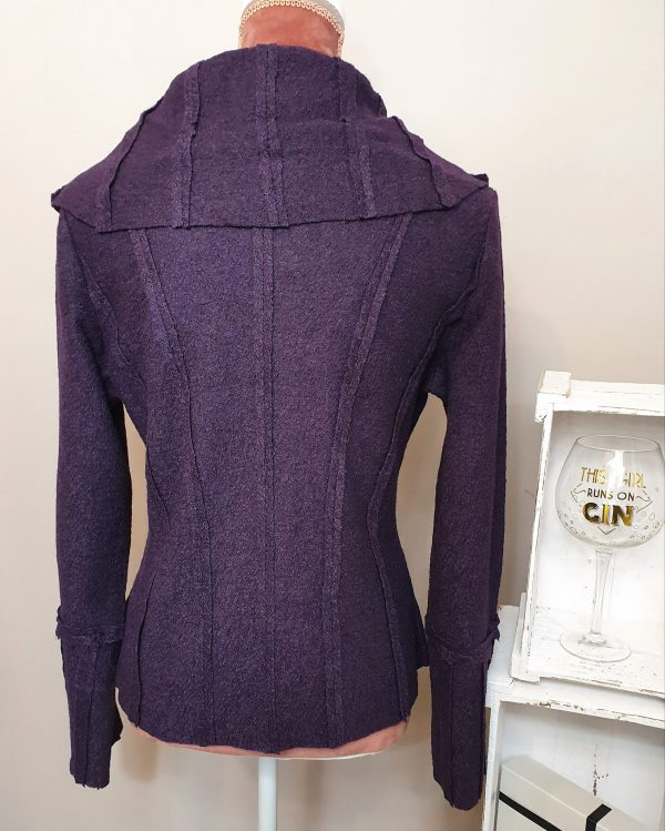 beautiful wool plum jacket by Heart of Holland